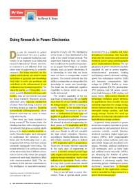 Doing research in power electronics prof. b. k. bose