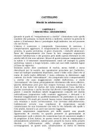 Riassunto Rischi in adolescenza, Cattellino