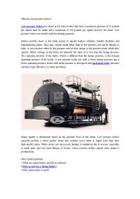 What are low pressure boilers