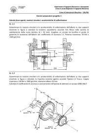 calcolo alberi di trasmissione