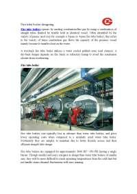 Fire tube boiler designing