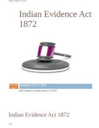Indian evidence act 1872 summary
