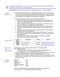 Ece212 course outline fall 2012