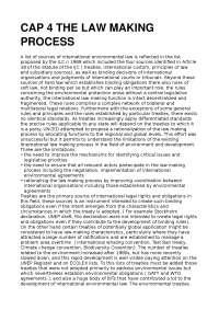 Principle of international environmental Law