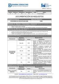 Ejemplo documentacion de requerimientos