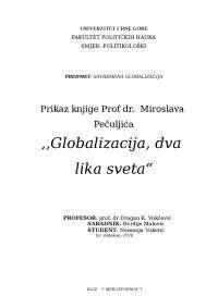 50734051 prikaz knjige prof dr miroslava pečuljića globalizacija dva lika svijeta