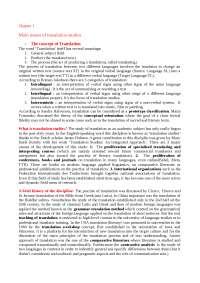 "Riassunti ""Introducing Translation Studies""J. Munday  Routledge 2008"
