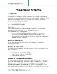 Proyecto geodesia