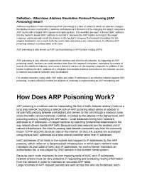 Arp poisoning attack tutorial