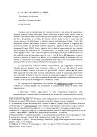 Articolo/Capitolo sulla cultura organizzativa
