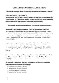 L'intervento psicosociale nelle organizzazioni - schema
