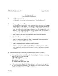 Problem set #02, Exercises for Engineering Chemistry