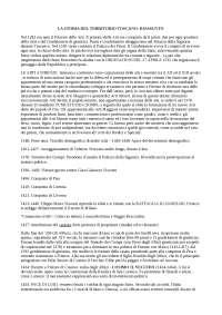 Riassunto slide sul territorio toscano, prof. Aurora Savelli