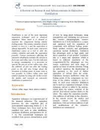 A Review on Research and Advancements in Extractive Distillation