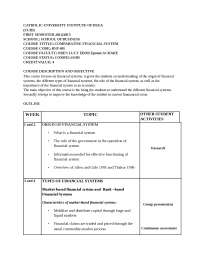 Course outline and e-banking sample exam