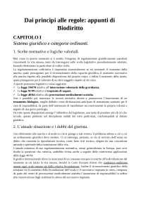 Dai principi alle regole, appunti di Biodiritto. DI ROSA.