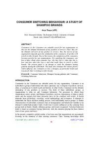 Consumer behaviour towards shampoo brands project