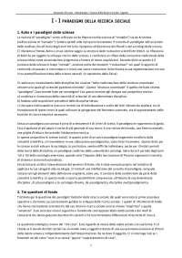 Metolodogia e Tecnica della Ricerca Sociale (Appunti Riassuntivi)