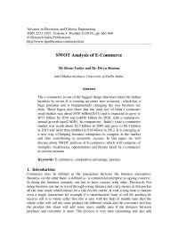 Swot analysis e comm website