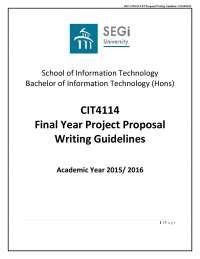 Fyp proposal writing guideline v2