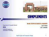 3. complements in dld by rab nawaz