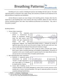 Abnormal breathing patterns