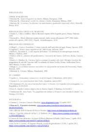 bibliografia per tesi triennale su Mario Martone