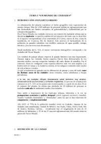 """Tema 1 de Geografía Humana, """"Un mundo de ciudades"""""""