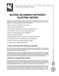 Energy efficiency motors