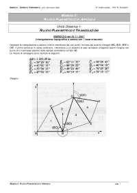 Esercizi triangolazioni topografia