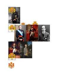 Historia, reyes de españa con sus escudos y retratos