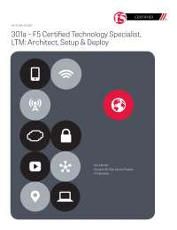 F5 301a study guide ltm specialist r2
