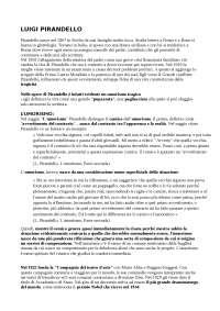 Argomenti letteratura contemporanea, Sintesi di Letteratura Italiana