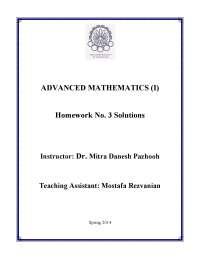 Homework no.3 solutions