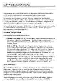 Software design basics