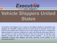 Vehicle shippers united states