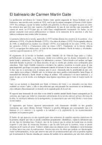 Riassunto E Analisi El Balneario Carmen Martín Gaite Docsity