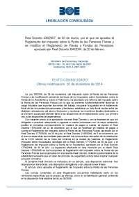 RD 439/2007 Aprobación Reglamento de Impuesto sobre la Renta de las Personas Físicas
