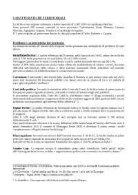 Analisi problemi territoriali Sicilia