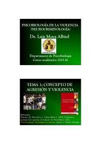 tema 1. concepto de agresión y violencia
