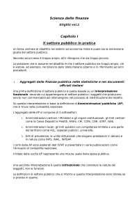 Riassunto Stiglitz vol.2 per Scienza delle finanze