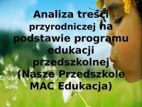 Analiza treści przyrodniczej na podstawie programu edukacji przedszkolnej prezentacja