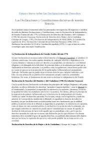 ensayo breve sobre declaraciones y constituciones