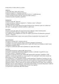 Domande di latino - terza prova e orale