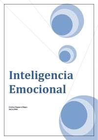 Trabajo sobre la Inteligencia Emocional aplicado a la dirección de Recursos humanos