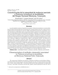 Caracterización de la comunidad de moluscos asociada a Thalassia testudinum en localidades del Parque Nacional Morrocoy, Venezuela
