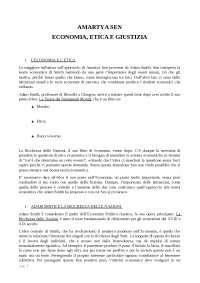 Amartya sen. economia, etica e giustizia