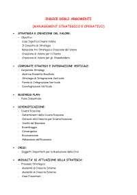 APPUNTI COMPLETI MANAGEMENT STRATEGICO E CORPORATE GOVERNANCE