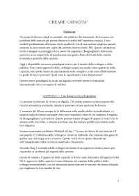 Riassunto Creare Capacità - Nussbaum