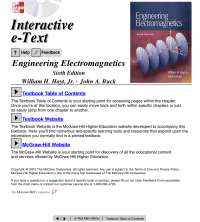 Engineering electromagnetics 6th edition [william h. hayt], Lecture notes for Computer science